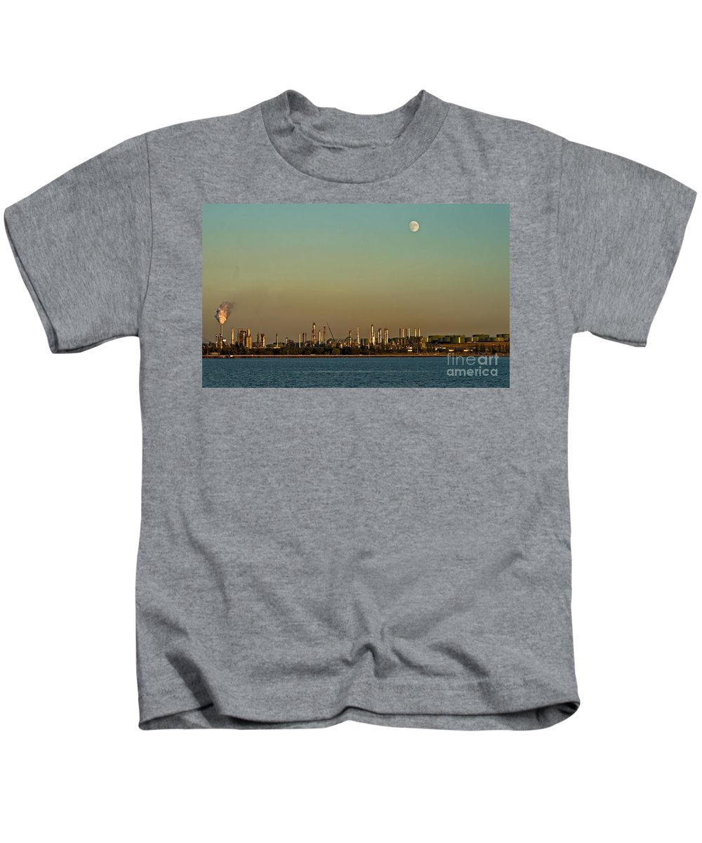 Anacortes Kids T-Shirt featuring the photograph Shell Refinery by Robert Bales