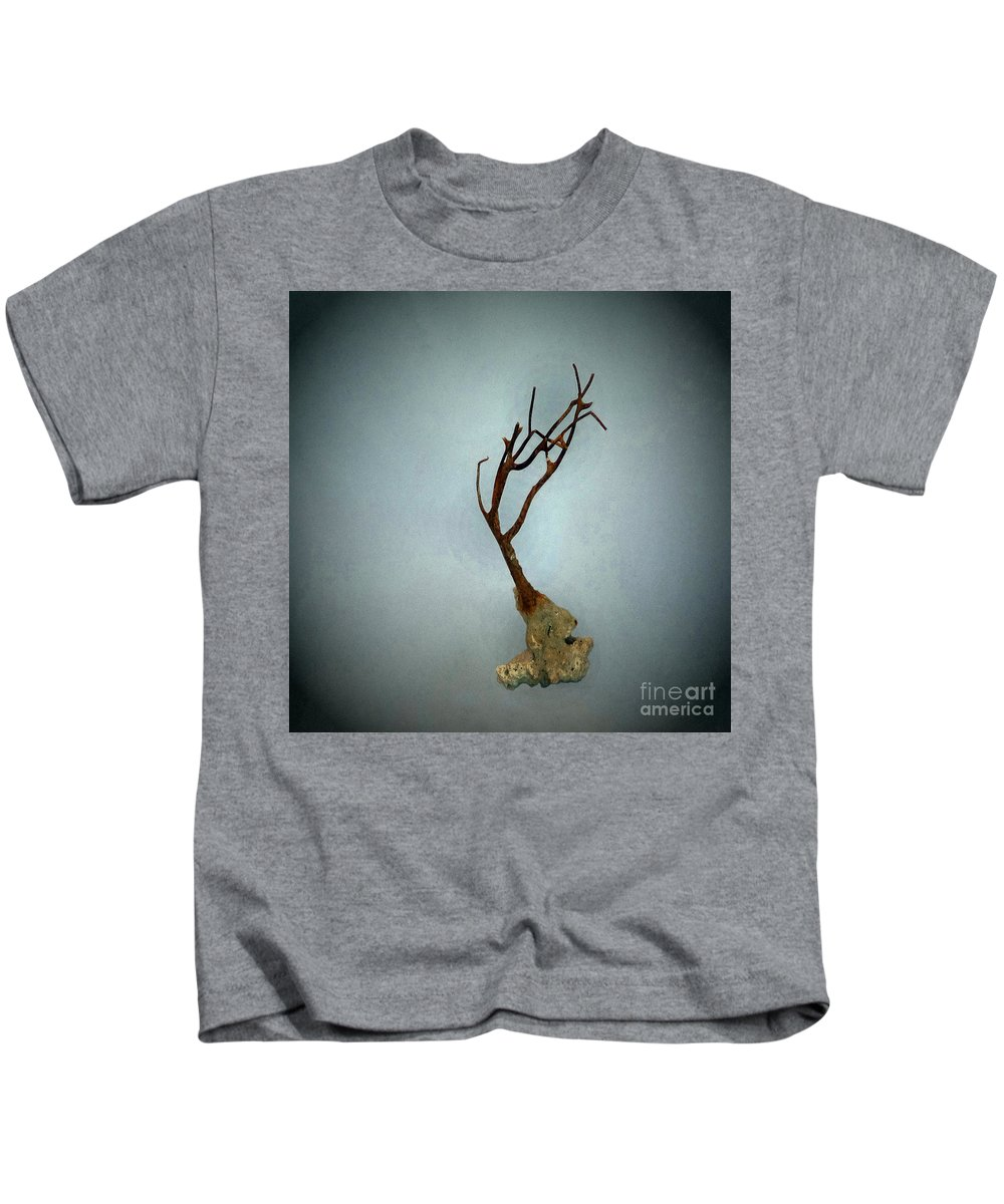 Nature Kids T-Shirt featuring the photograph Shell Study 3 Blue by Skip Willits