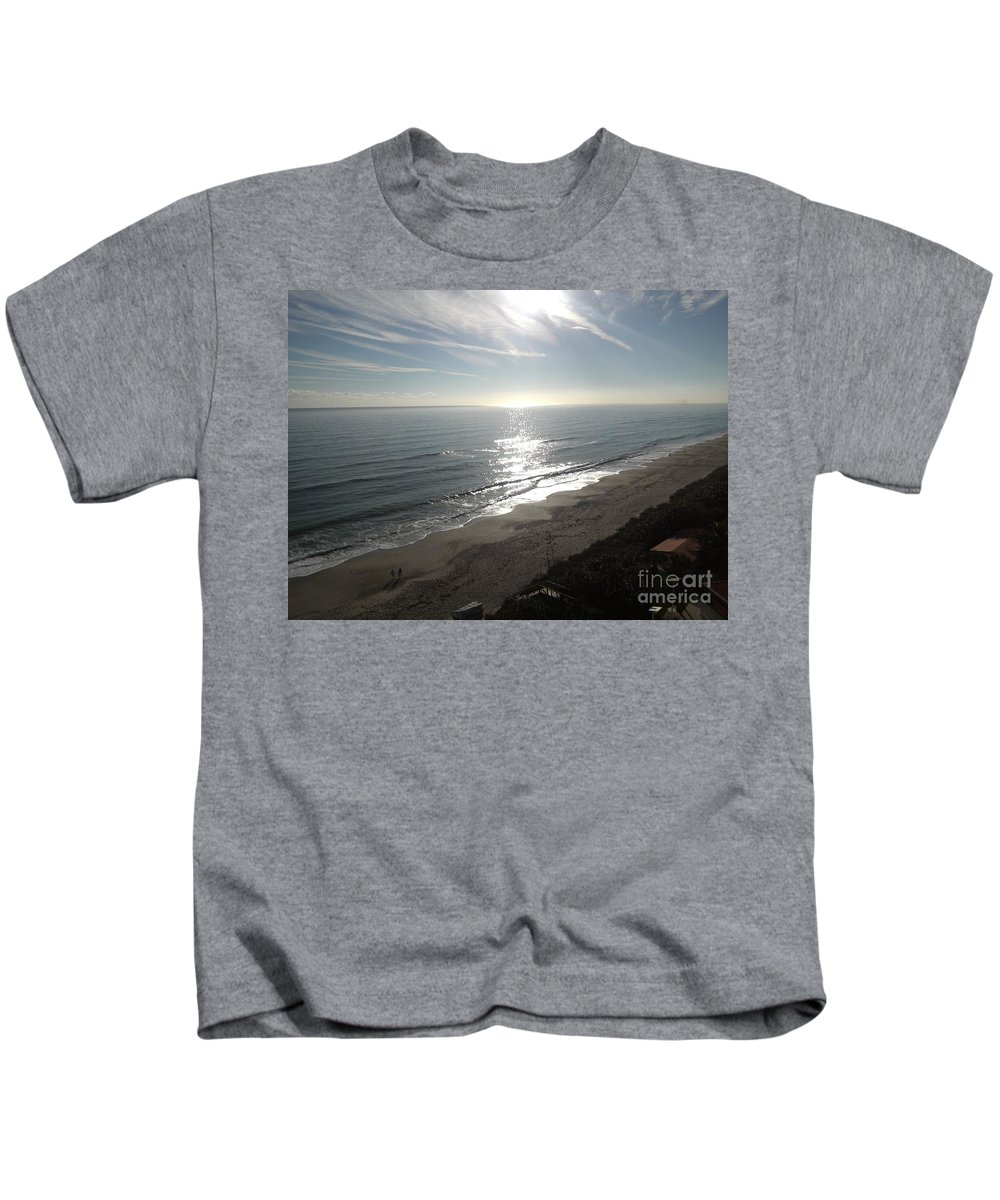 Sunrise Kids T-Shirt featuring the photograph Shimmering Sunrise by Charlotte Stevenson