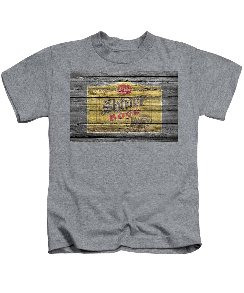 Shiner Bock Kids T-Shirt featuring the photograph Shiner Bock by Joe Hamilton