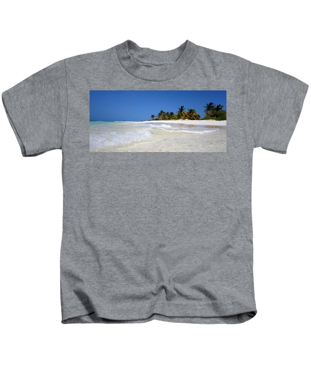 Beach Kids T-Shirt featuring the photograph Shoal Bay Solitude by Kristin Bourne
