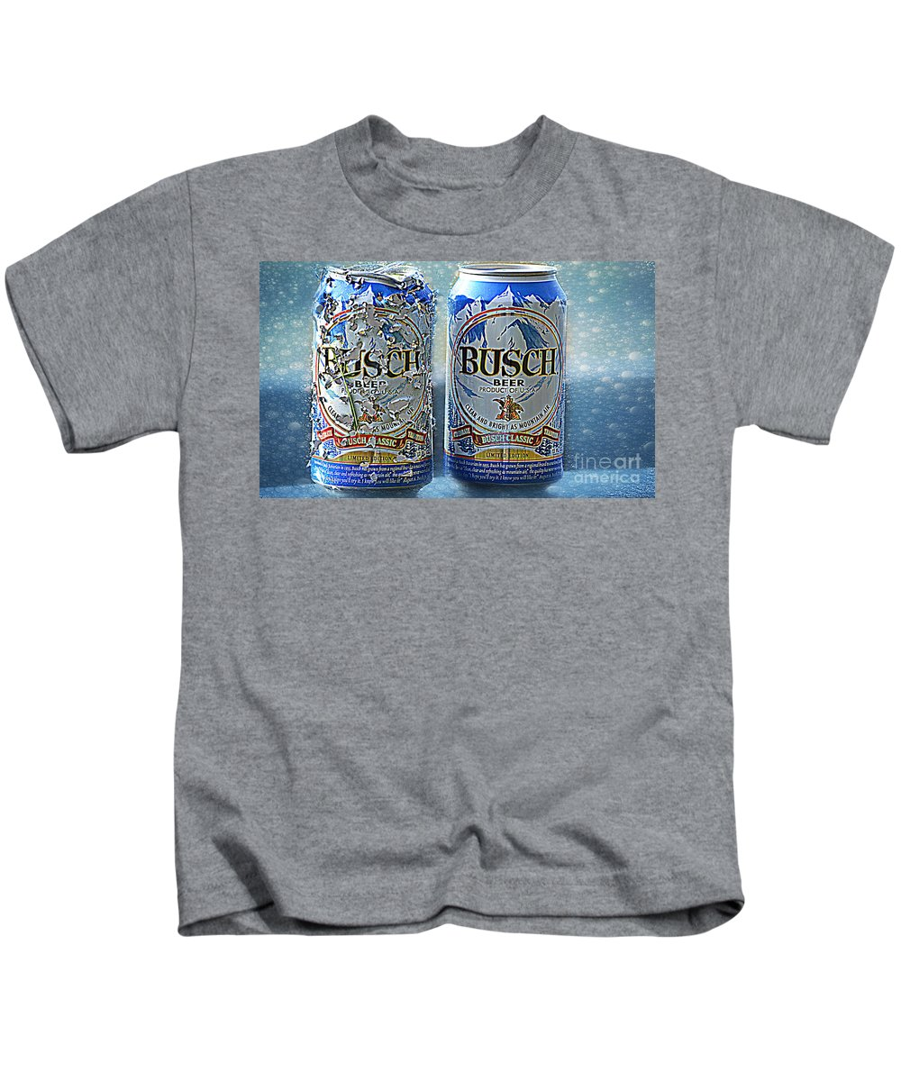 Landscape Kids T-Shirt featuring the photograph Shot Of Beer  by Peggy Franz