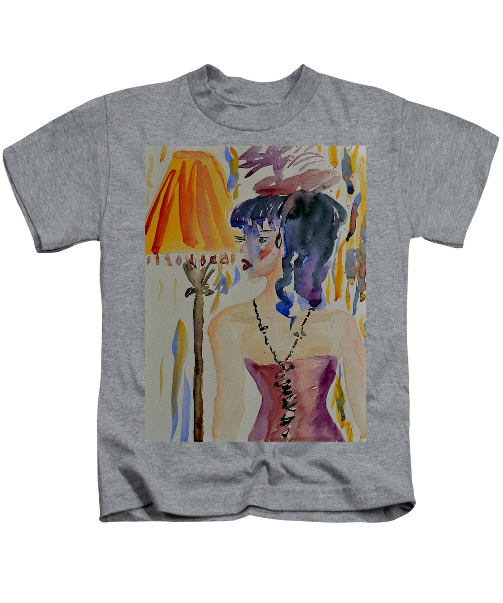 Figure Kids T-Shirt featuring the painting Showgirl by Beverley Harper Tinsley