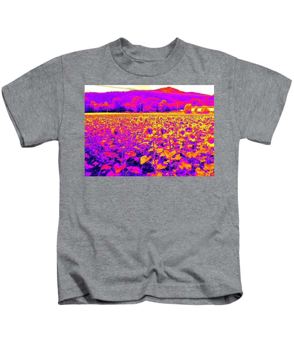 Agriculture Photographs Kids T-Shirt featuring the painting Showtime by Nikki Keep
