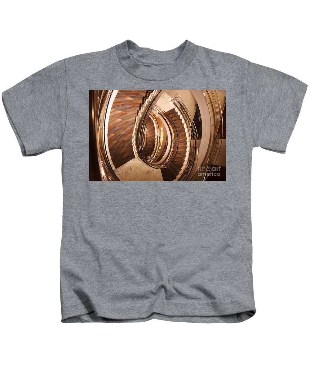 Stairs Kids T-Shirt featuring the photograph Sixth Floor by David Rucker