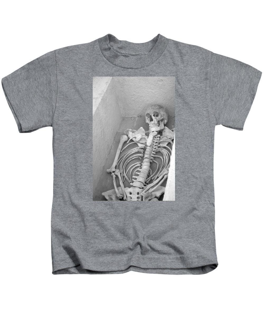 Skeleton Kids T-Shirt featuring the photograph Skeleton by FL collection