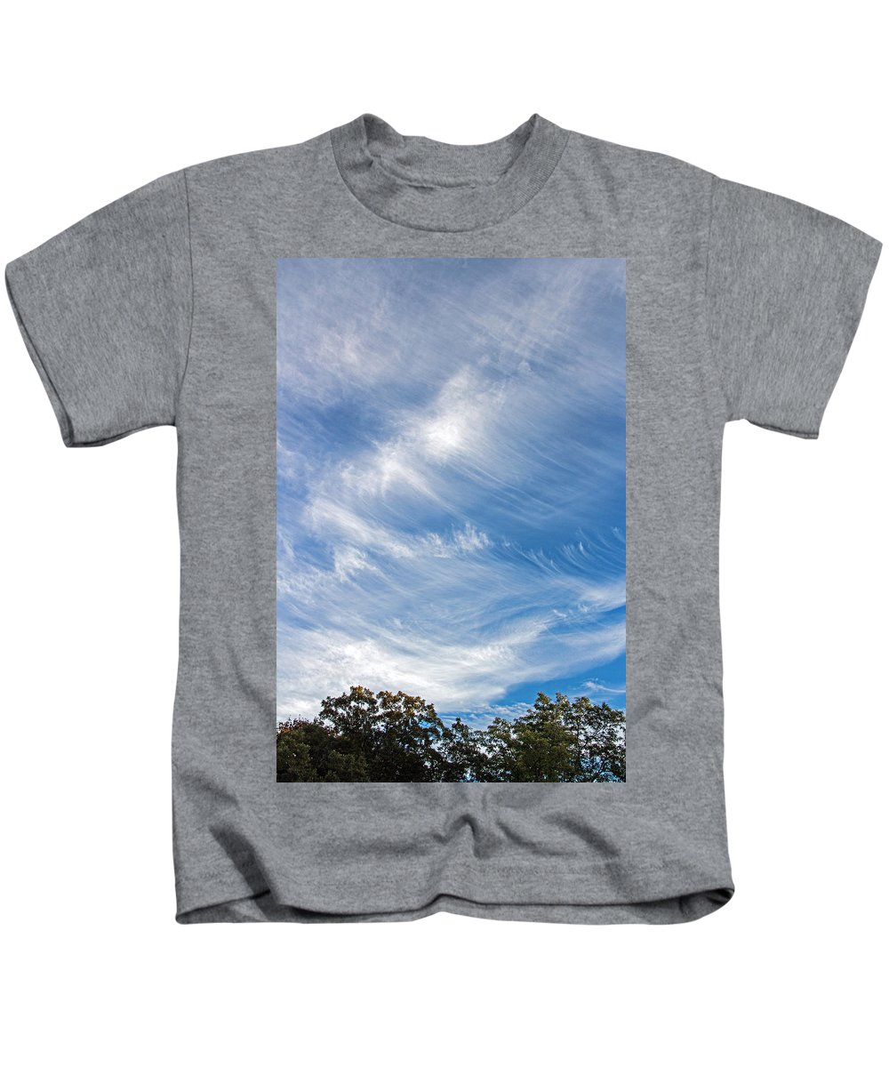Sky Kids T-Shirt featuring the photograph Sky Paintings IIi by Angie Schutt