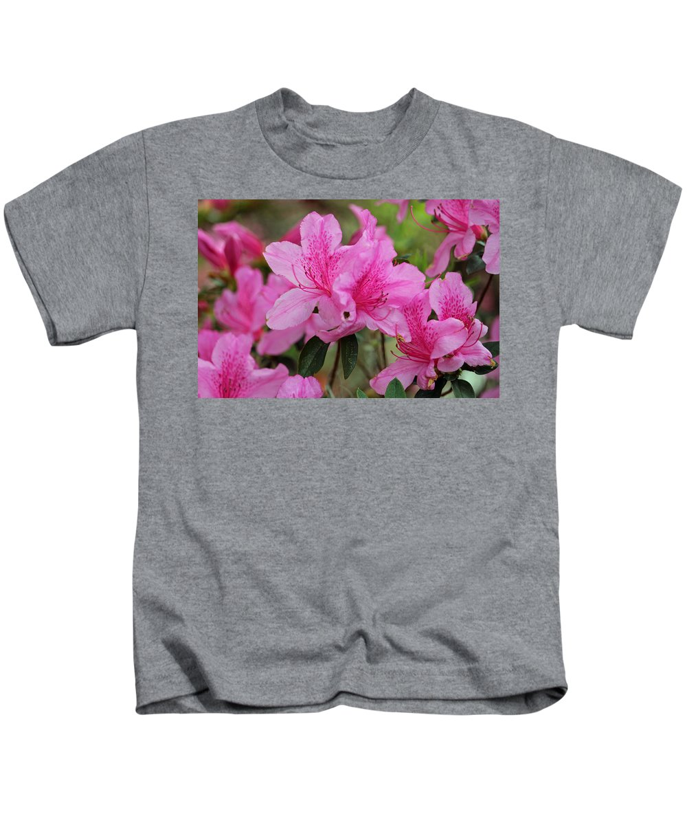 Azalea Kids T-Shirt featuring the photograph Smiling Azalea by Cynthia Guinn