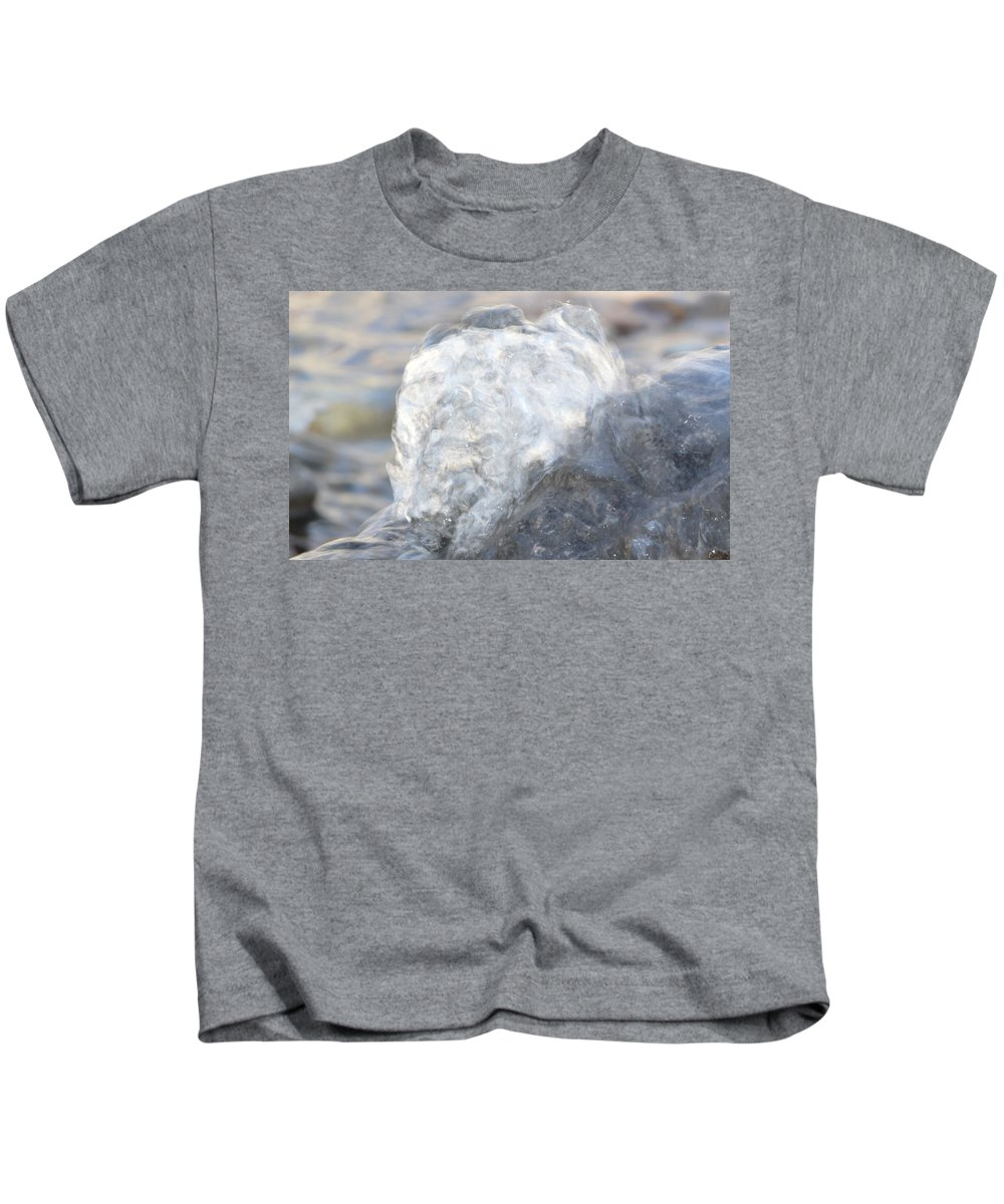 Water Kids T-Shirt featuring the photograph Smokey Water by Brent Dolliver