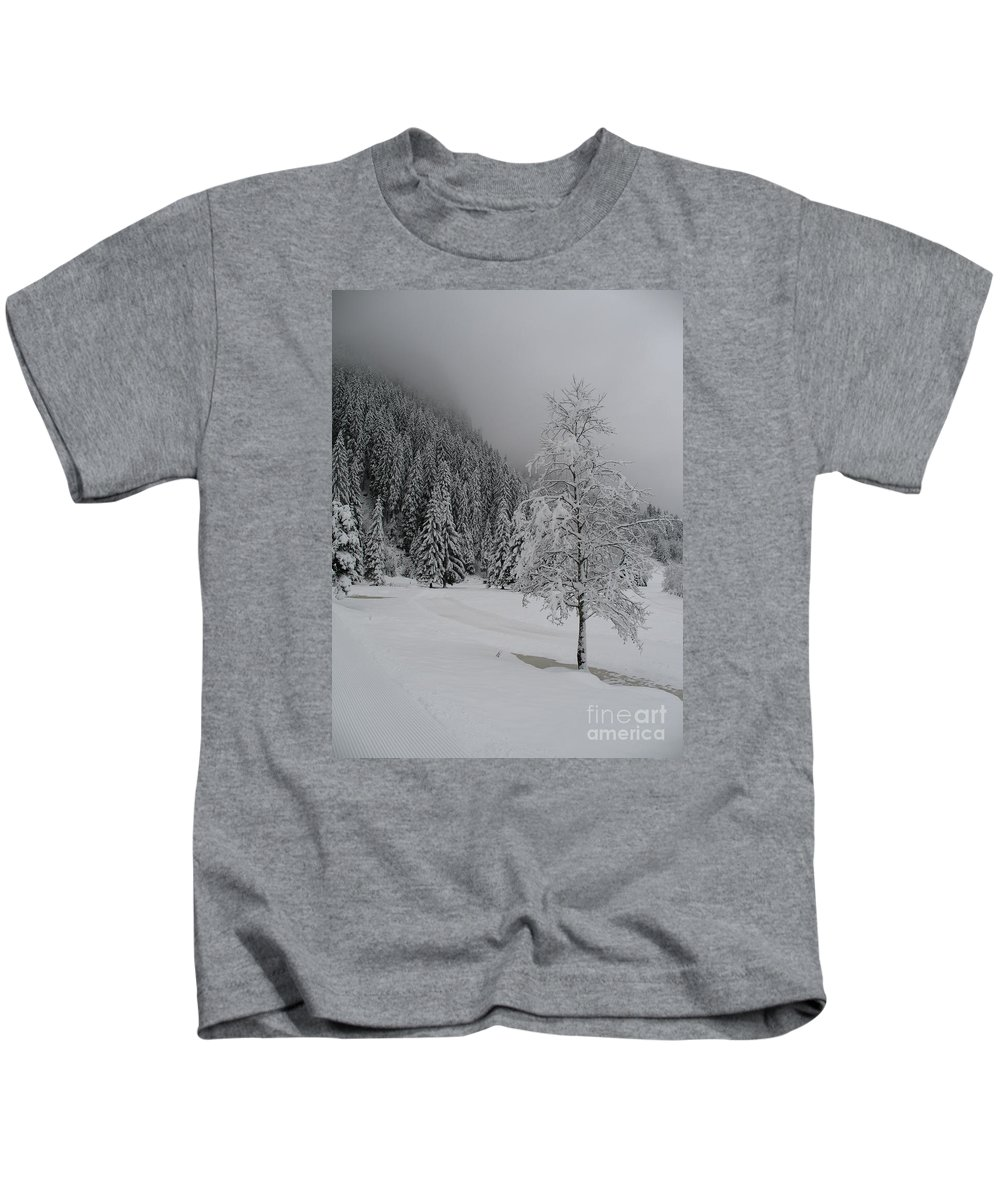 Snow Kids T-Shirt featuring the photograph Snow Tree by Christiane Schulze Art And Photography