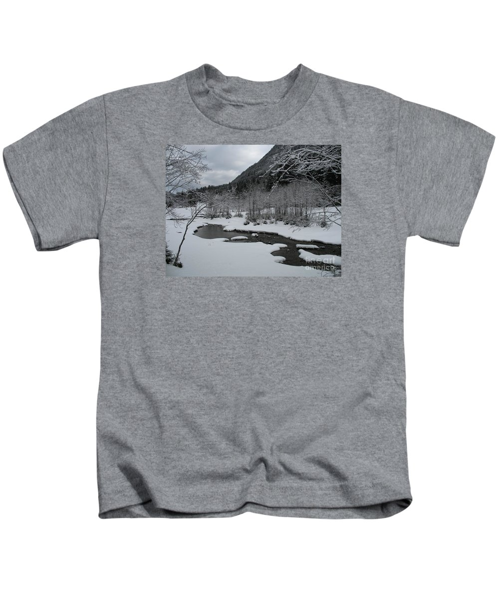 Creek Kids T-Shirt featuring the photograph Snowed Under Valley by Christiane Schulze Art And Photography