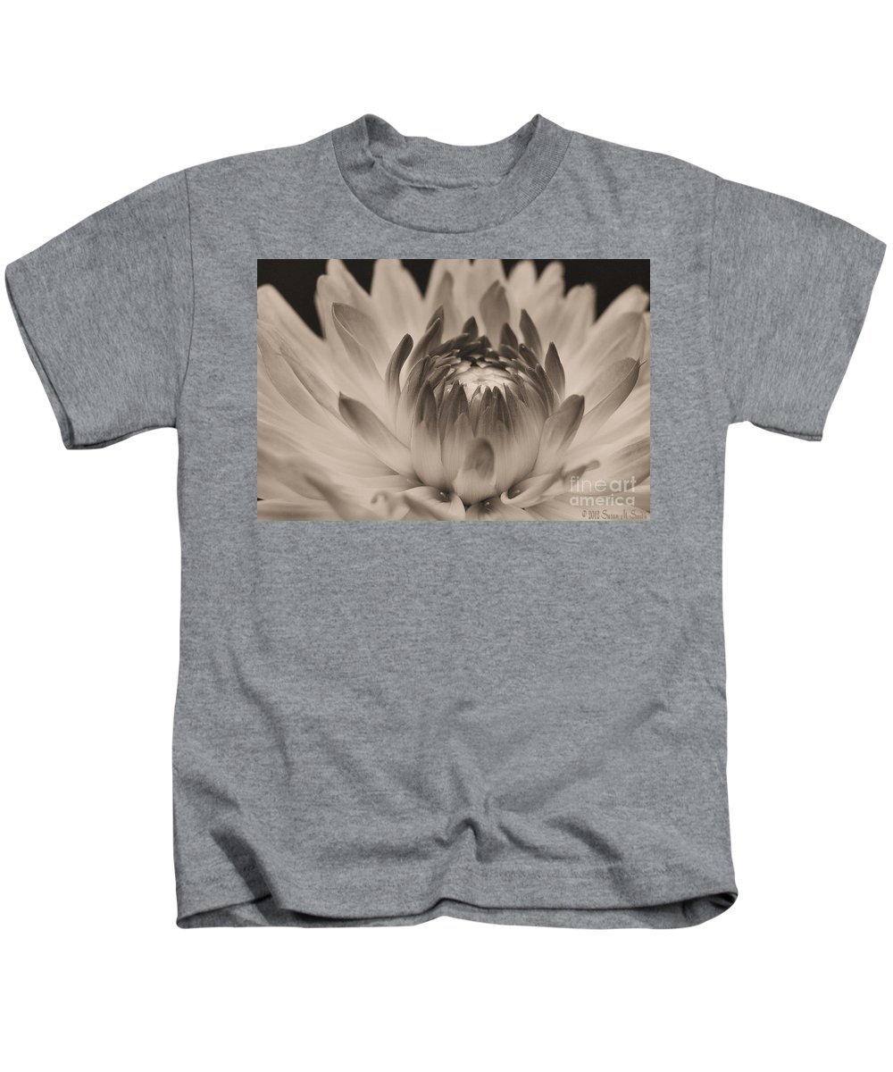 Photography Kids T-Shirt featuring the photograph Soft Sepia by Susan Smith