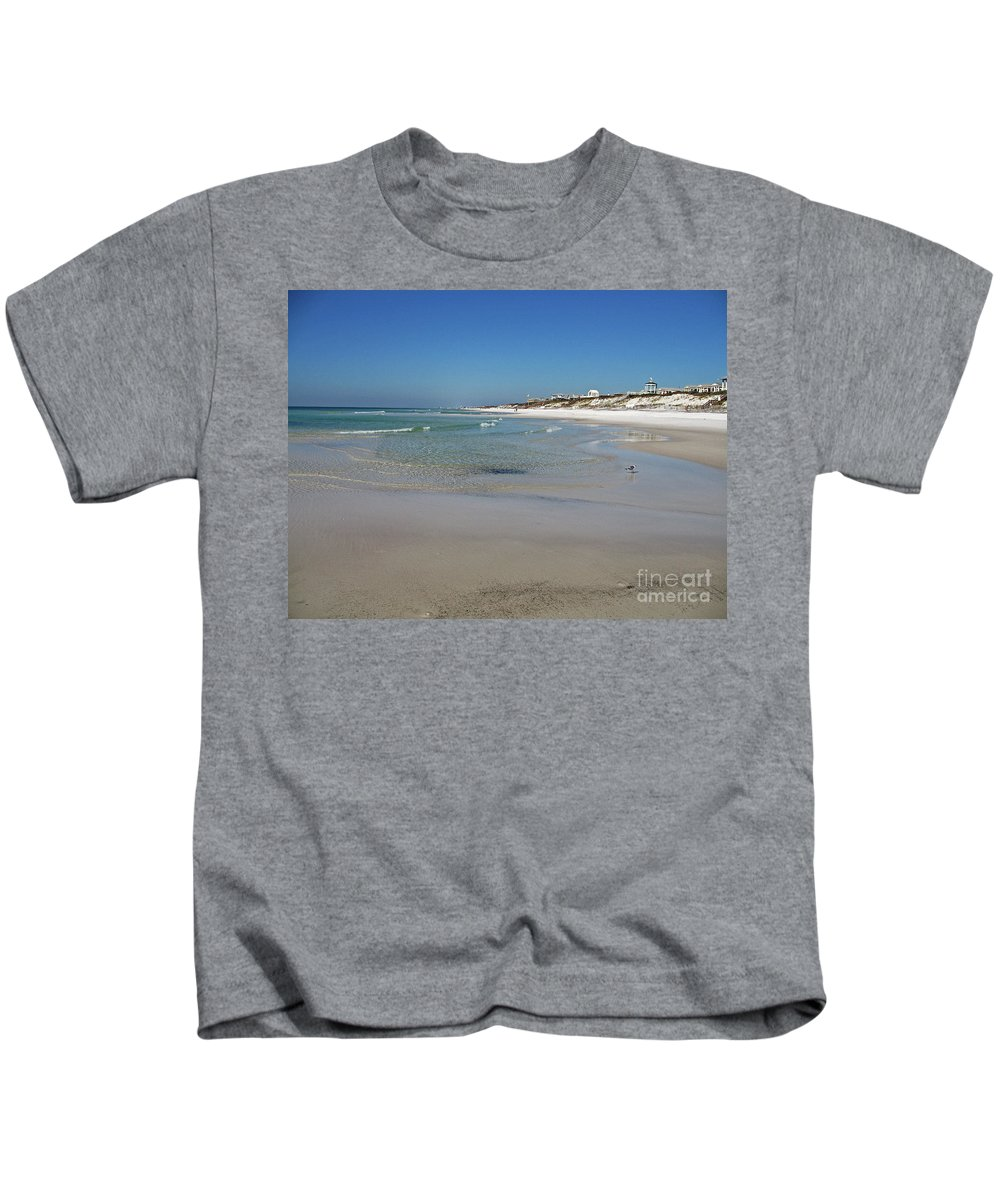 Beach Kids T-Shirt featuring the photograph Soft Waves by Christiane Schulze Art And Photography
