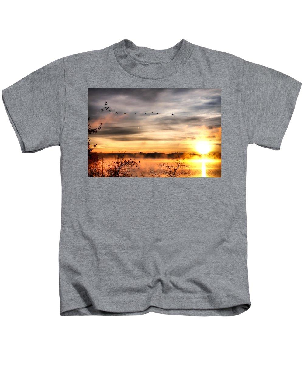 Lake Kids T-Shirt featuring the photograph South Carolina Morning by Lynne Jenkins