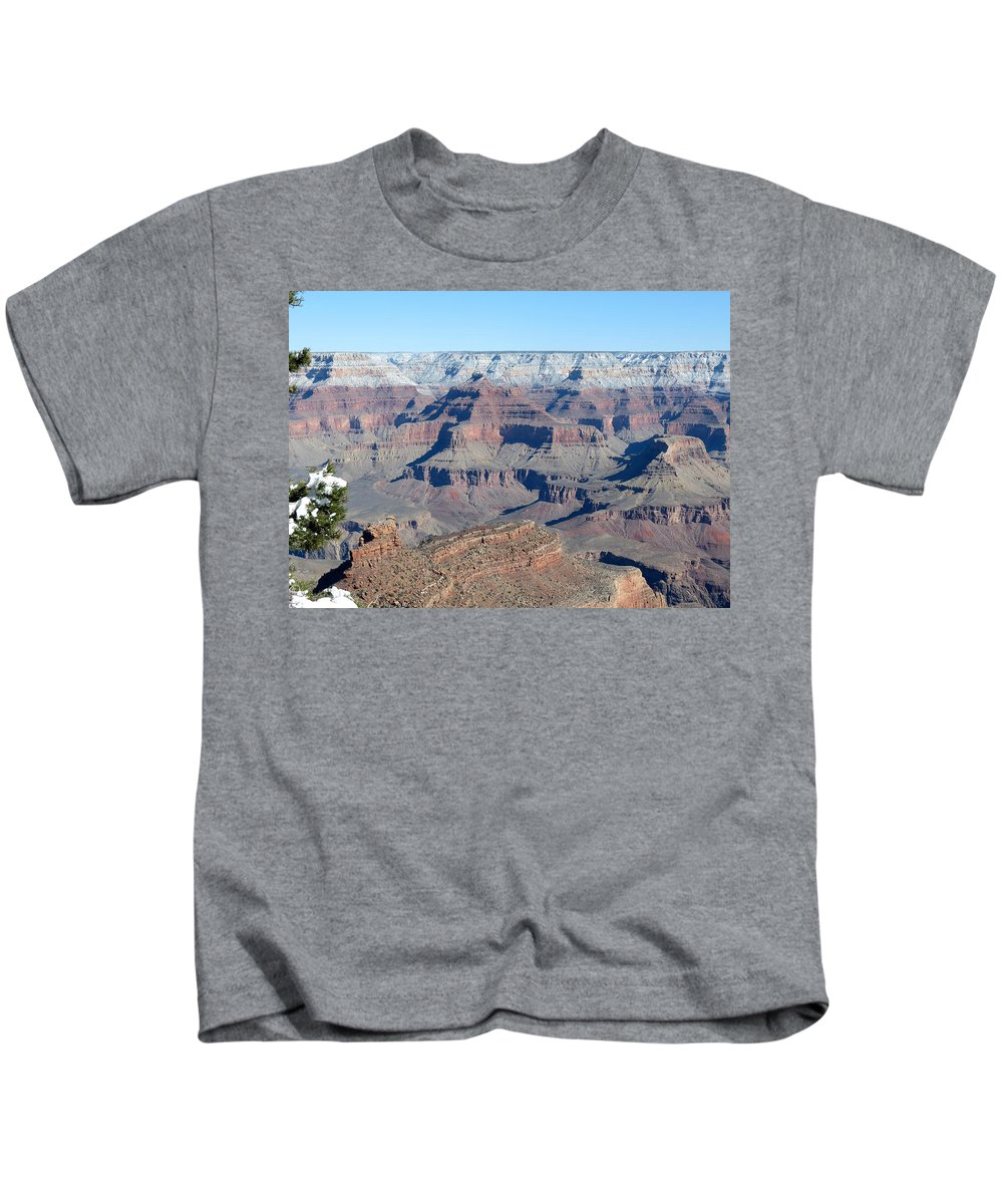 Grand Canyon National Park Kids T-Shirt featuring the photograph South Rim Grand Canyon National Park by Laurel Powell