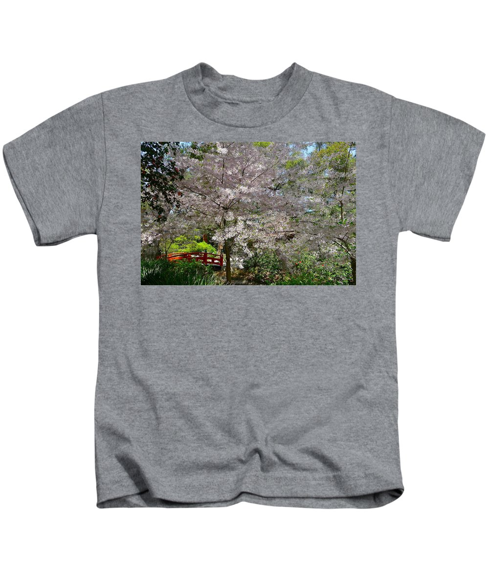 Garden Kids T-Shirt featuring the photograph Spectacular Japanese Garden by Denise Mazzocco