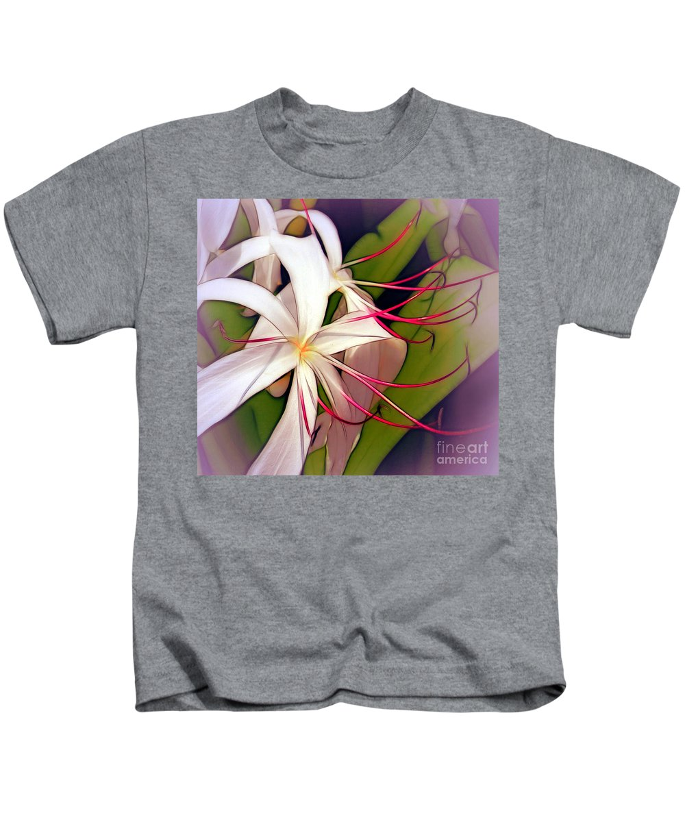 Lilies Kids T-Shirt featuring the photograph Spider Lilies by Judi Bagwell