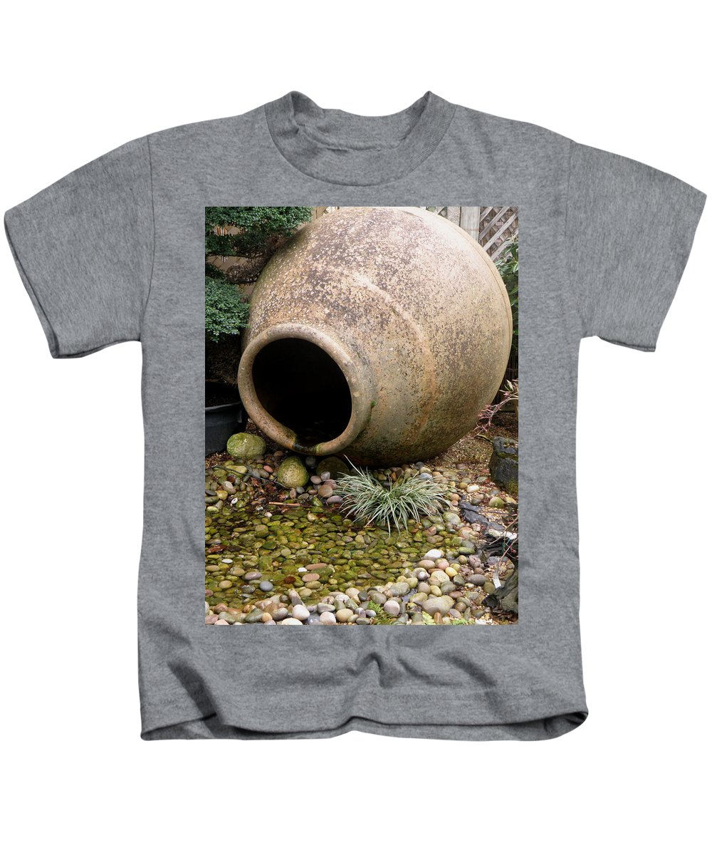 Pot Kids T-Shirt featuring the photograph Spilt? by Ted Denyer