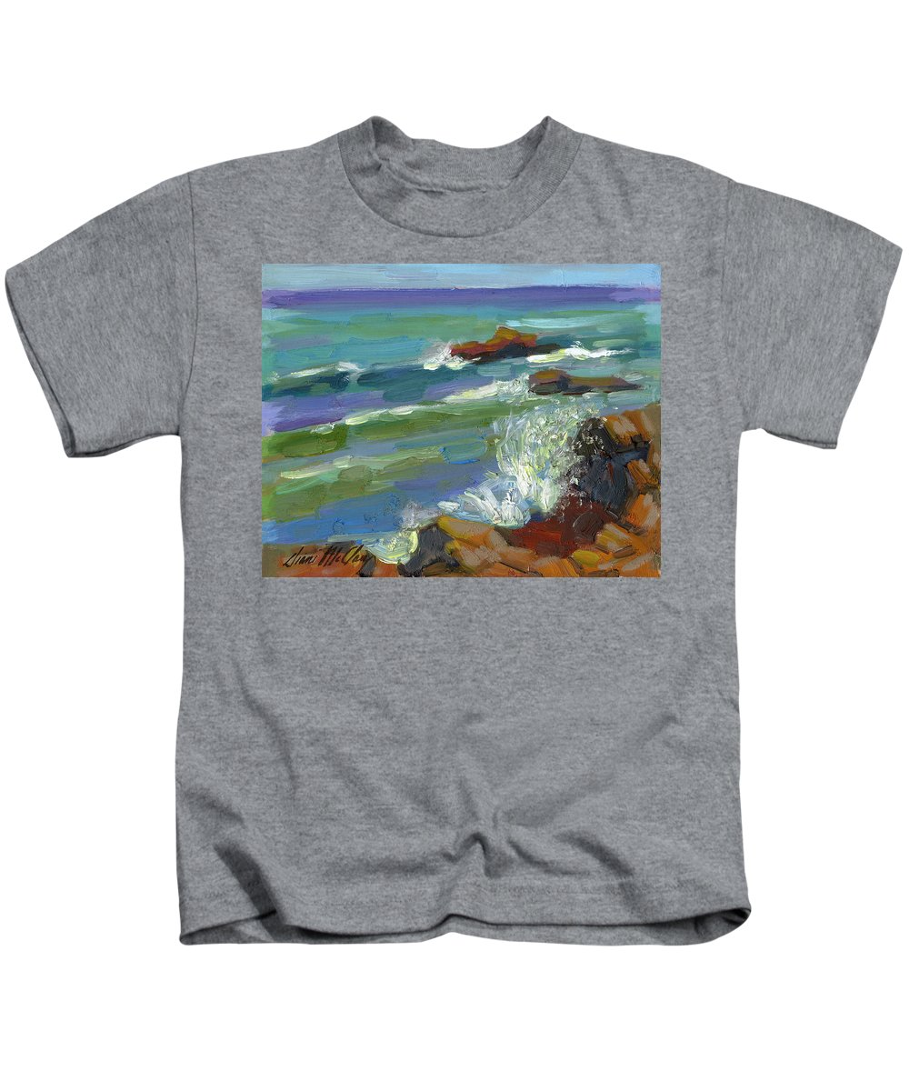Baja Kids T-Shirt featuring the painting Splash 1 by Diane McClary