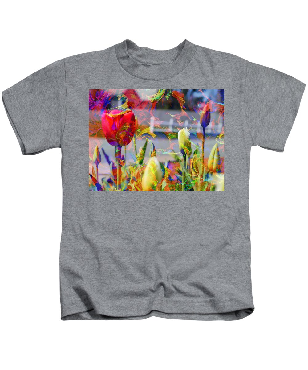 Abstract Kids T-Shirt featuring the photograph Spring Abstraction IIi by Tina Baxter