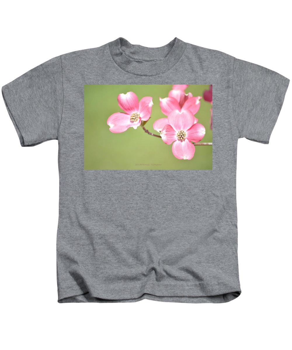 Dogwood Flower Kids T-Shirt featuring the photograph Spring Harbinger by Sonali Gangane