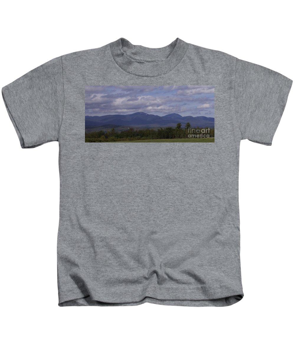 Squam Mountain Range Kids T-Shirt featuring the photograph Squam Mountain Range by Michael Mooney