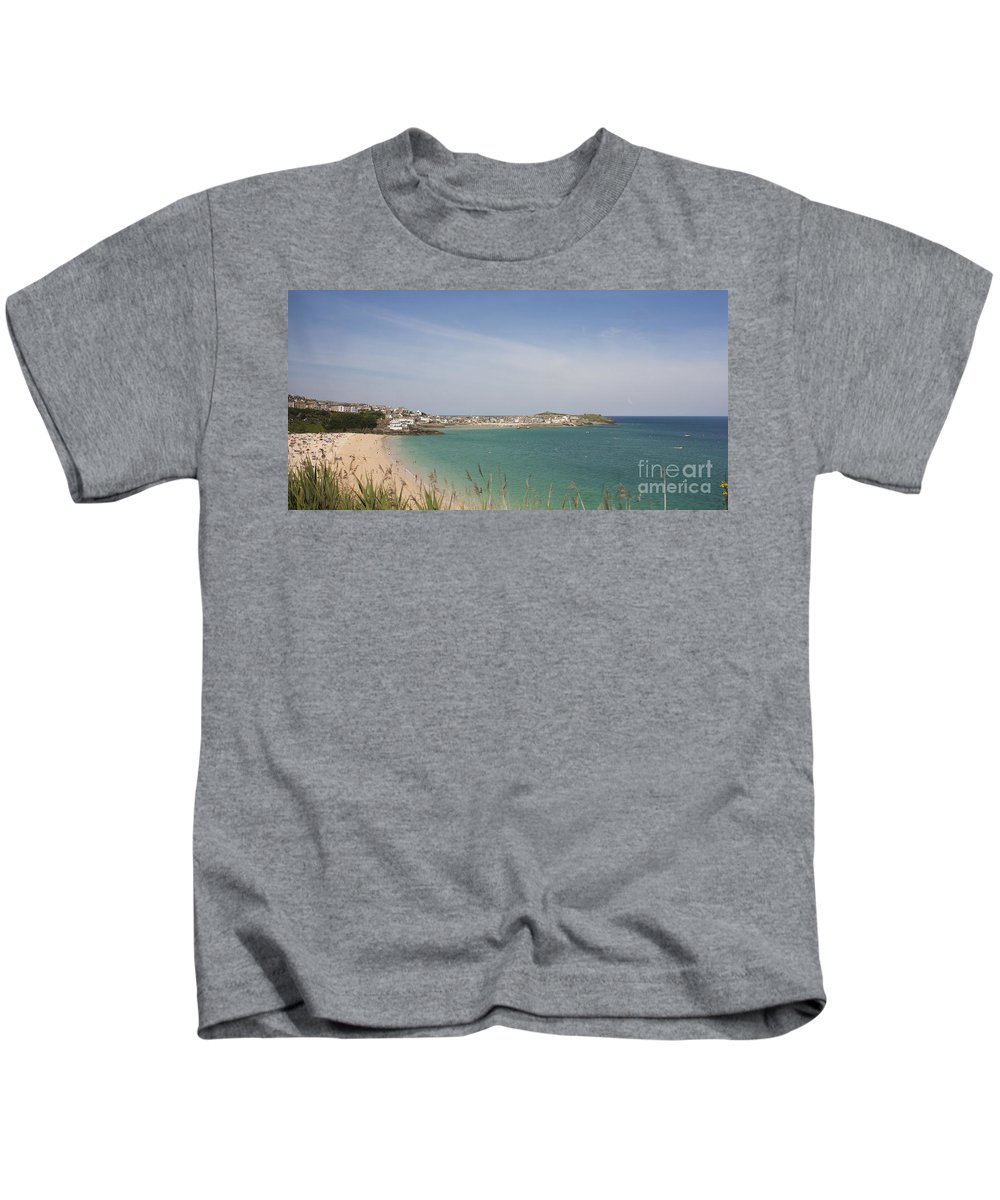 St Ives Kids T-Shirt featuring the photograph St Ives From The Train by Terri Waters