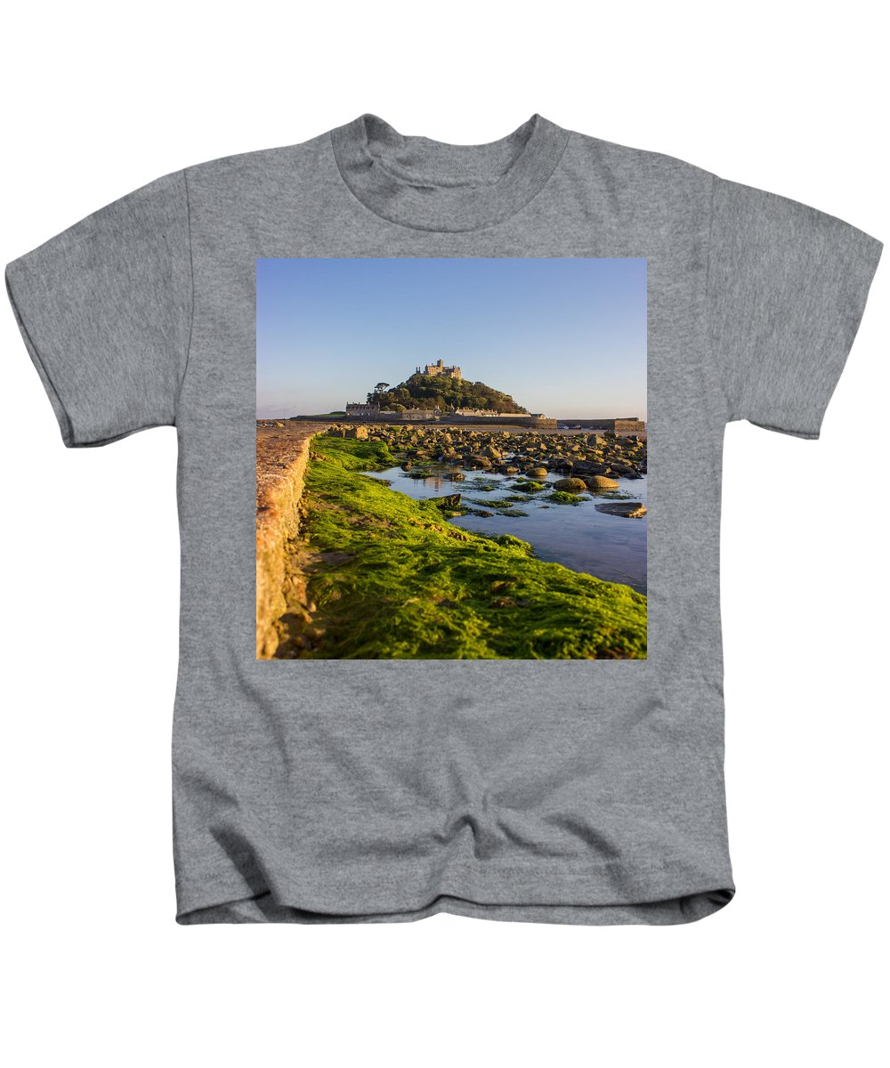 Stmichaelsmount Kids T-Shirt featuring the photograph St Michael's Mount by Martin Newman