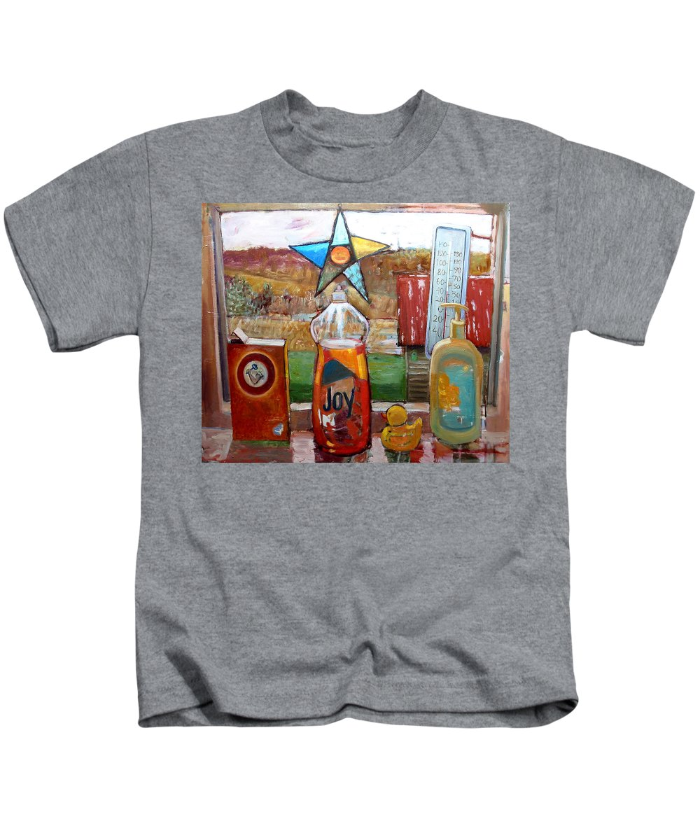 Primary Colors Kids T-Shirt featuring the painting St013 by Paul Emory