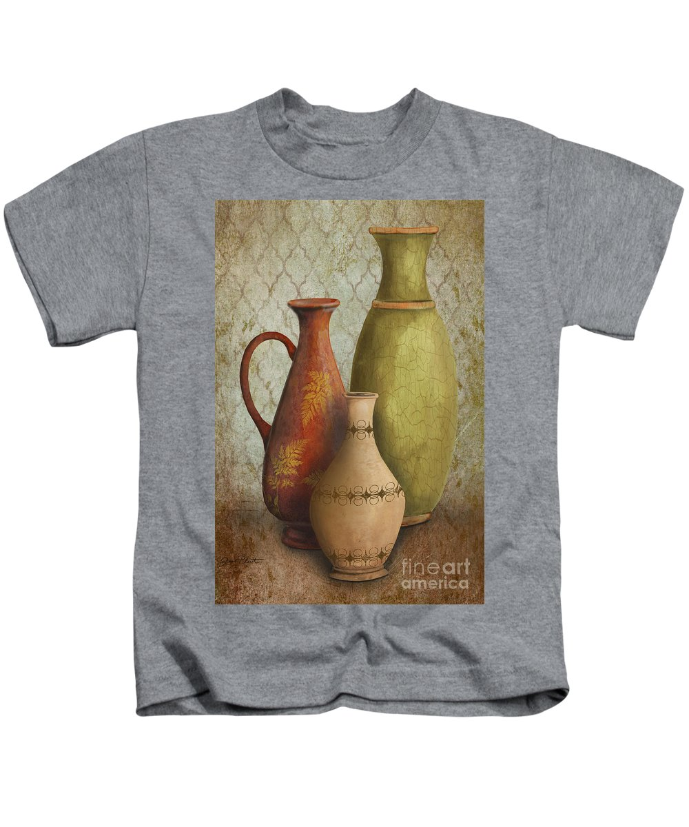 Original Painting Kids T-Shirt featuring the painting Still Life-e by Jean Plout