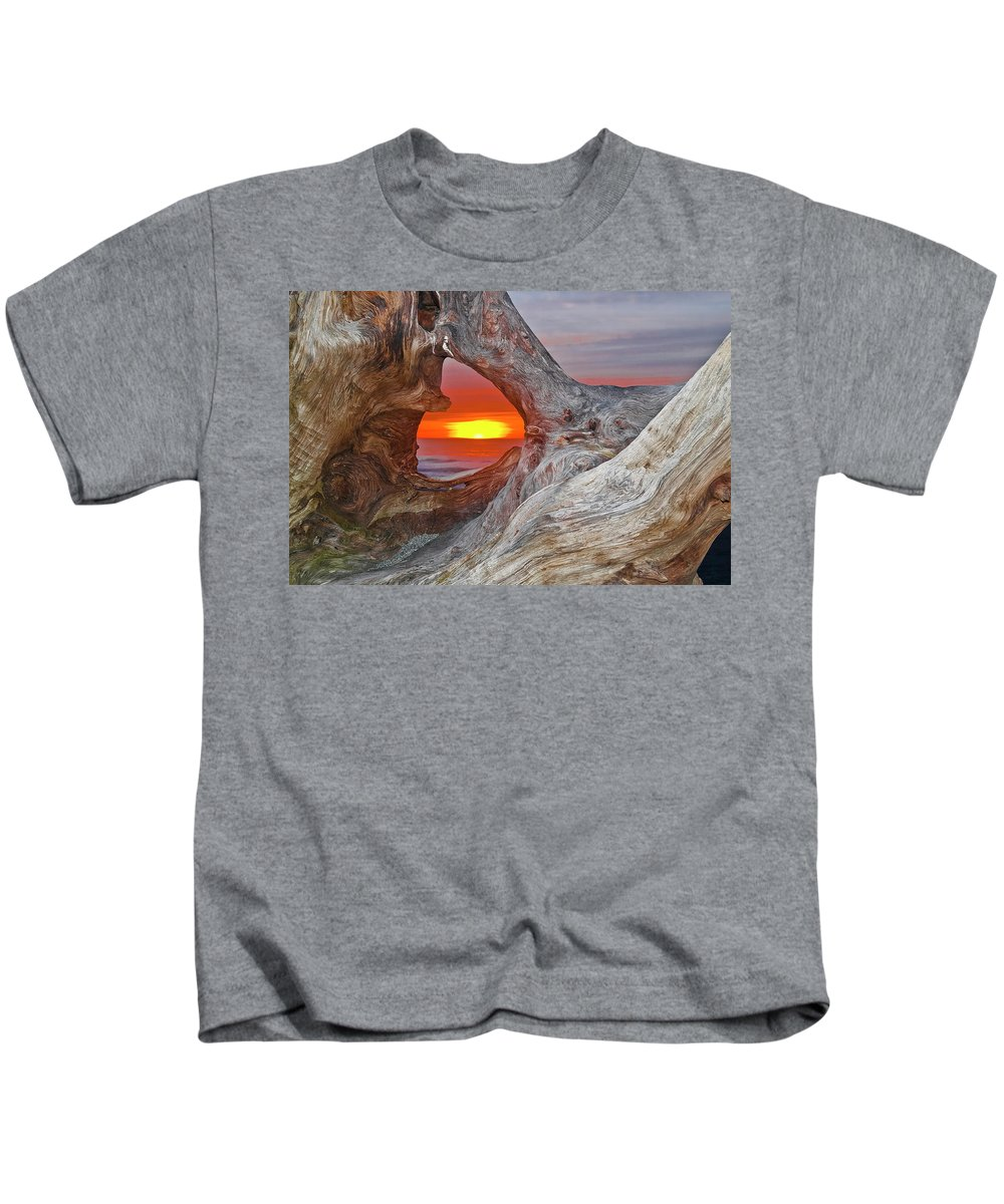 Seascape Kids T-Shirt featuring the photograph Stone Lagoon Sunset by Greg Nyquist