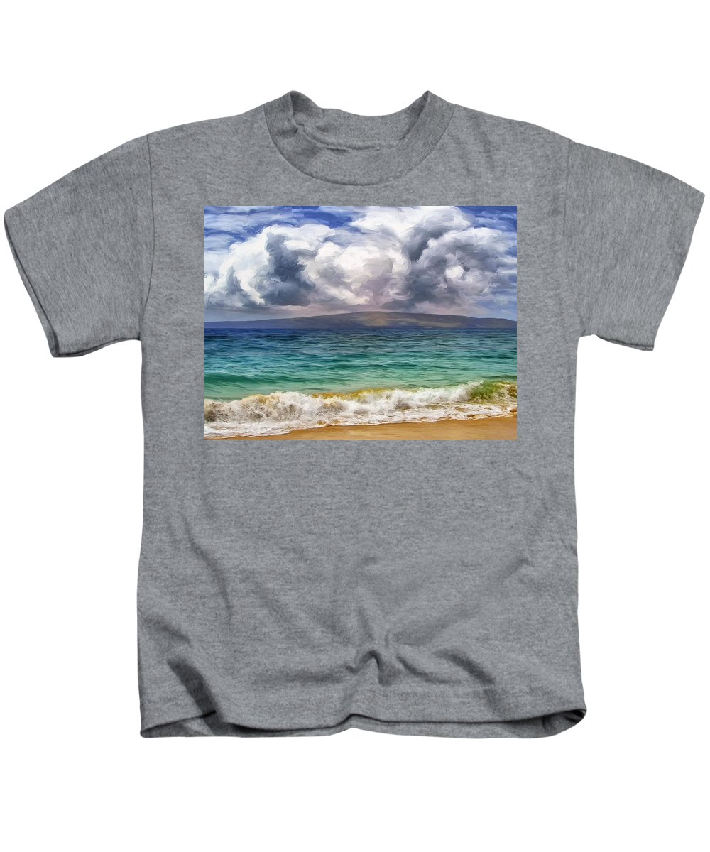 Storm Kids T-Shirt featuring the painting Storm Across The Channel by Dominic Piperata