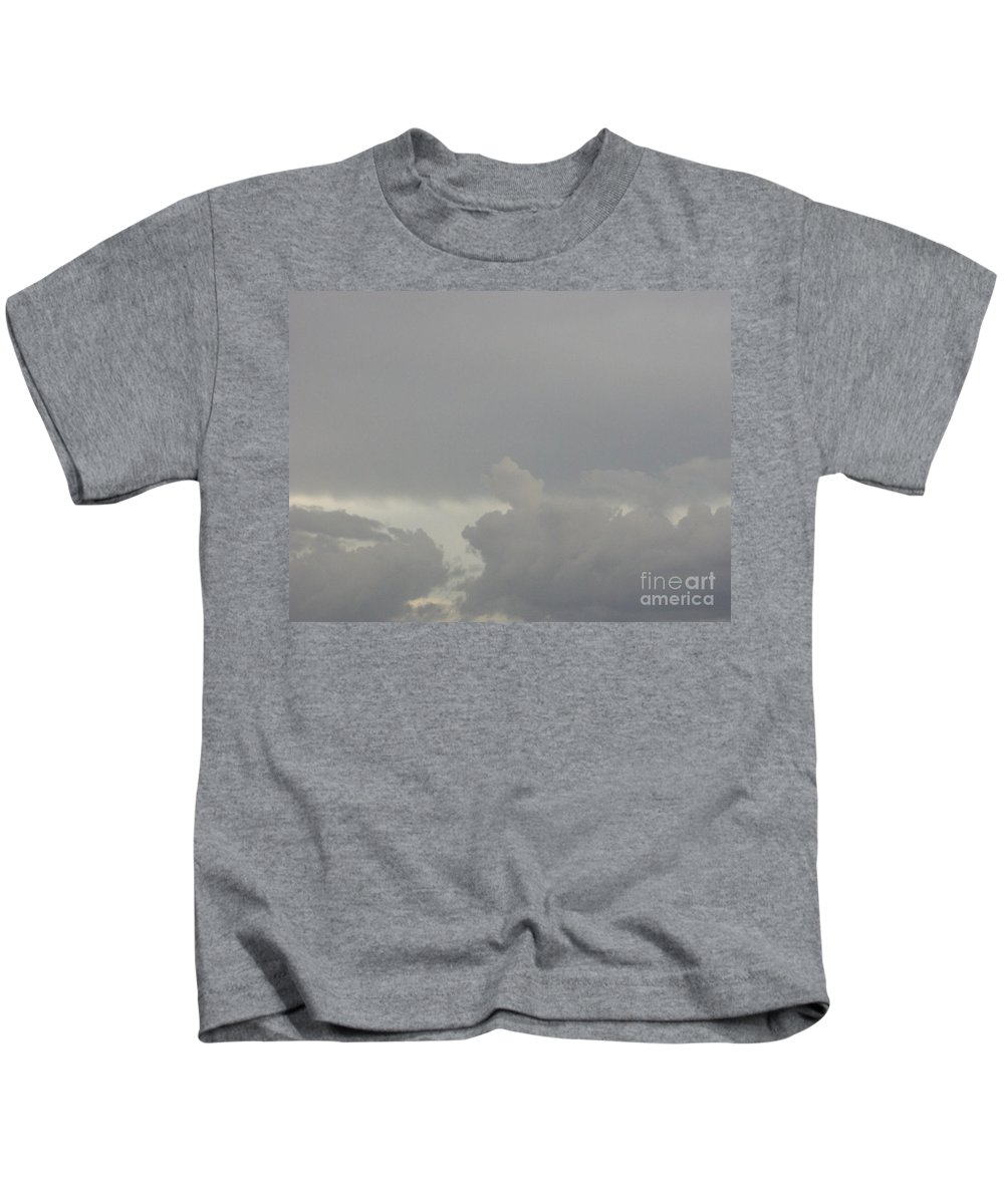 Clouds Kids T-Shirt featuring the photograph Storm Clouds by D Hackett