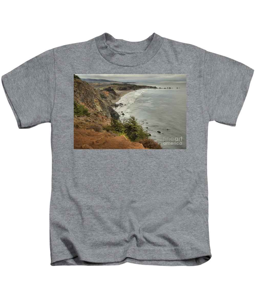 Bug Sur Kids T-Shirt featuring the photograph Storms Over A Rugged Coast by Adam Jewell