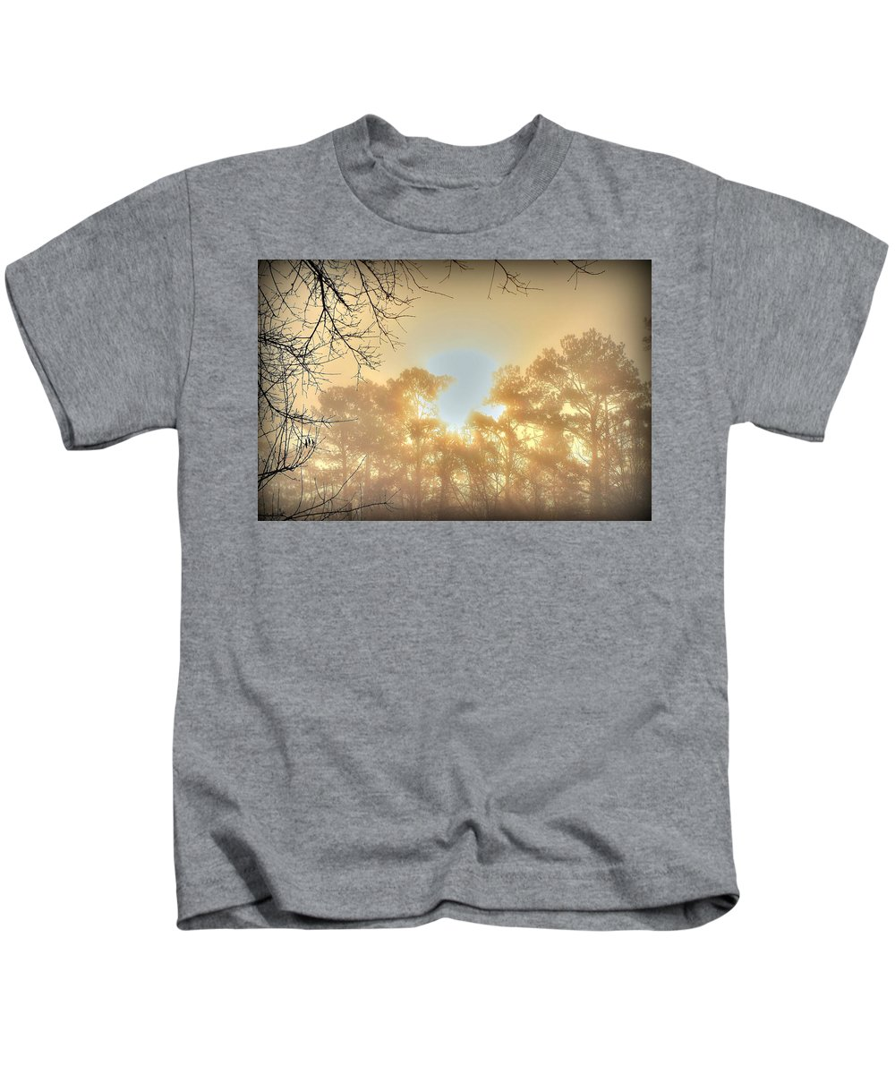 Sunrise Kids T-Shirt featuring the photograph Strangely Dim by Charlotte Schafer