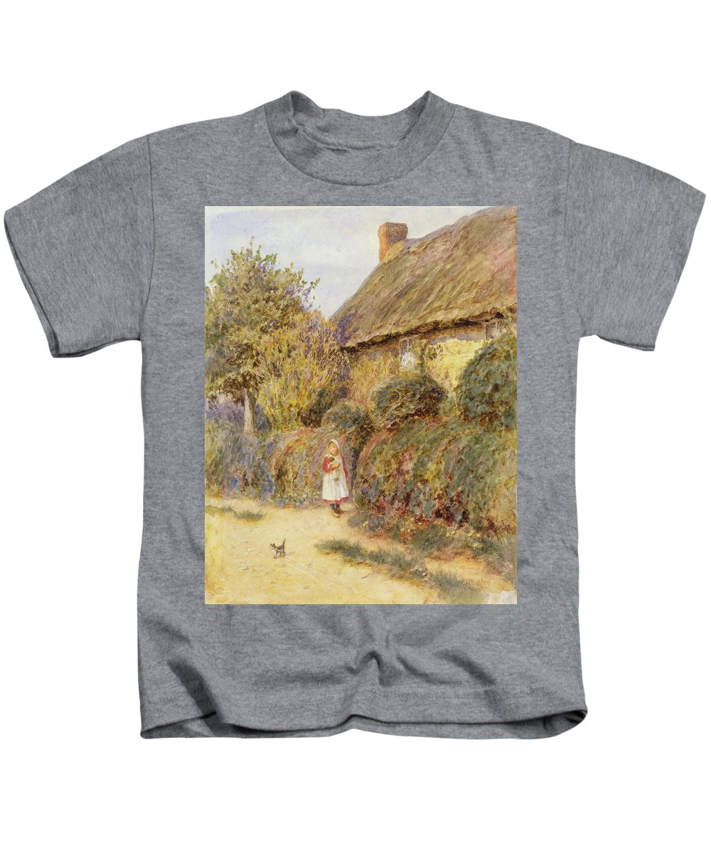 Stray Kids T-Shirt featuring the painting Straying by Helen Allingham