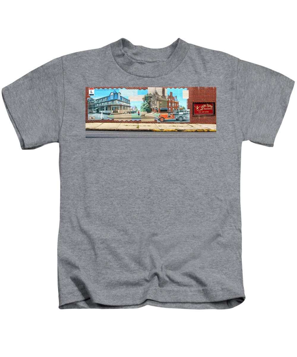 Mural Kids T-Shirt featuring the photograph Street Mural by Dave Mills