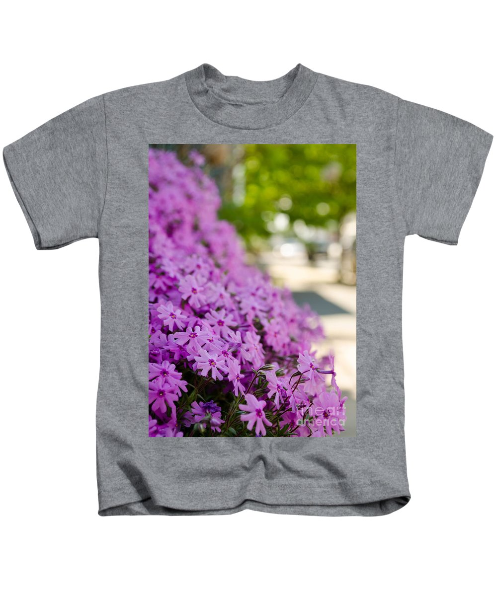 Blossom Kids T-Shirt featuring the photograph Street Wildflower by Andrea Anderegg