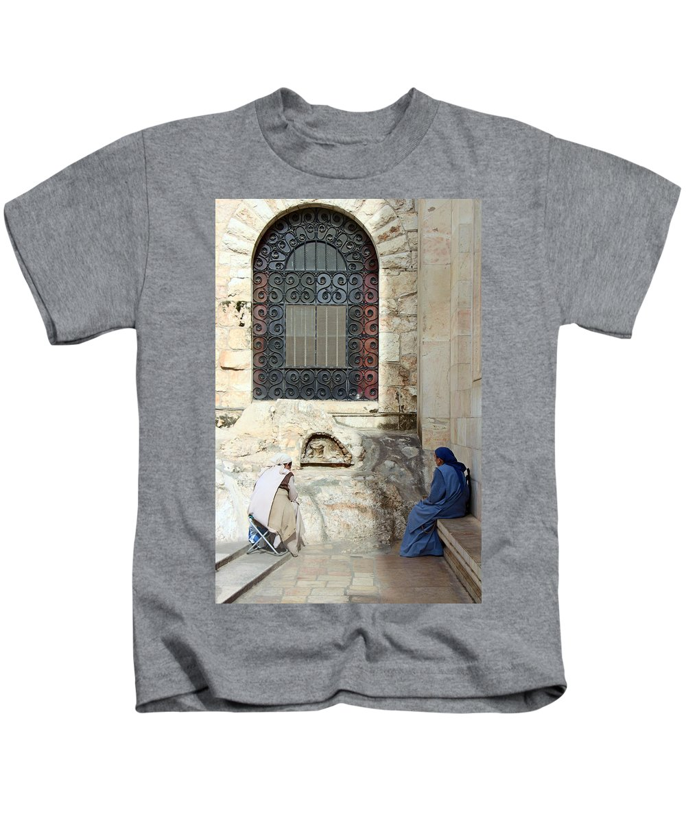 Submission Kids T-Shirt featuring the photograph Submission by Munir Alawi