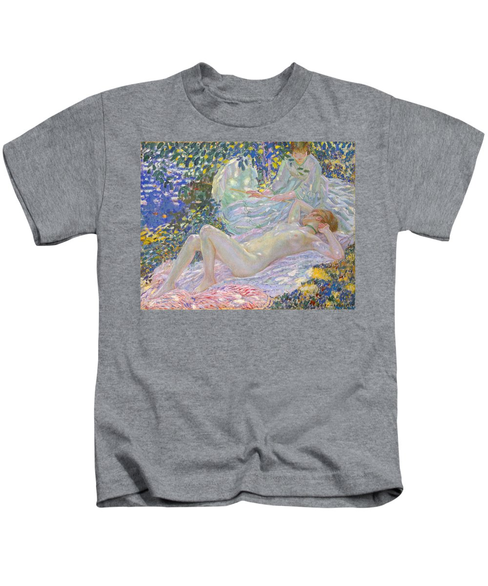 Frederick Kids T-Shirt featuring the painting Summer by Frederick Carl Frieseke