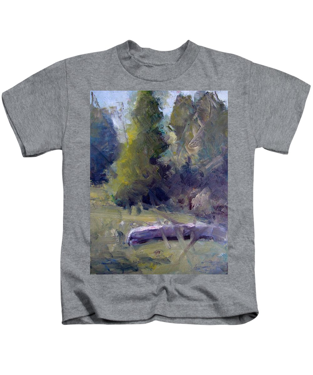 Canoe Kids T-Shirt featuring the painting Summers End by Susan Elizabeth Jones