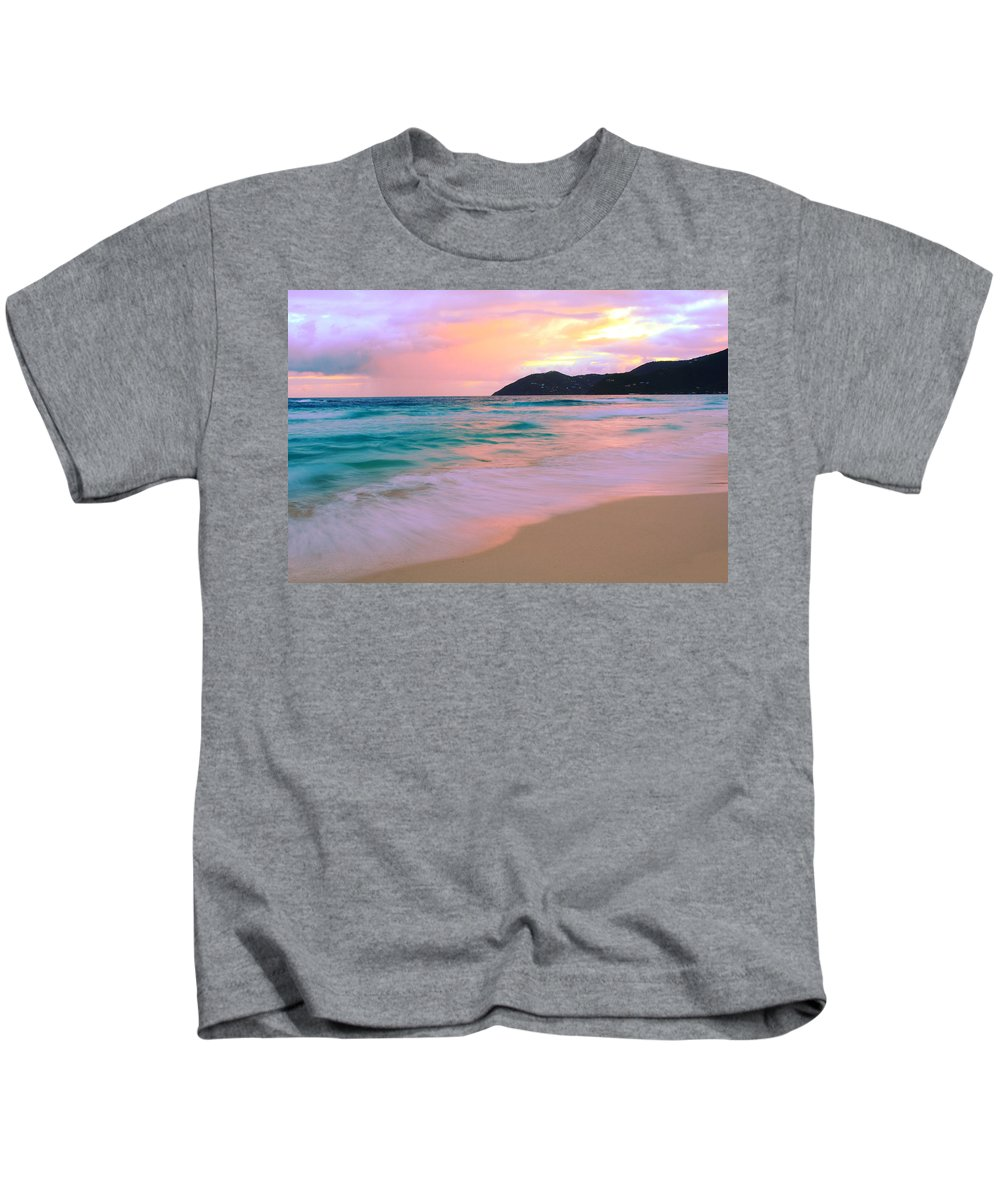 Seascape Kids T-Shirt featuring the photograph Sunday Morning by Roupen Baker