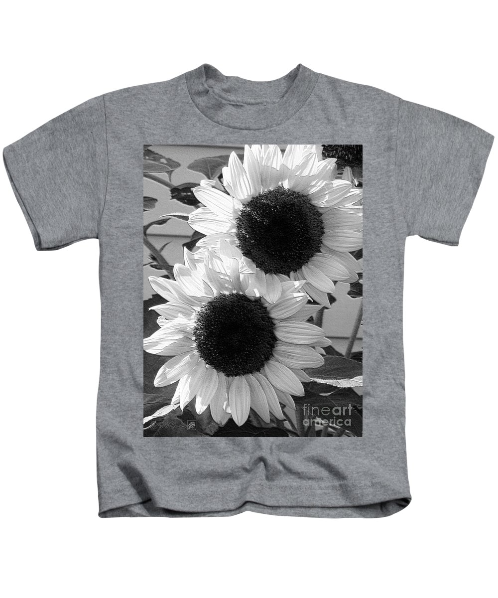 Mccombie Kids T-Shirt featuring the digital art Sunflower From The Color Fashion Mix by J McCombie