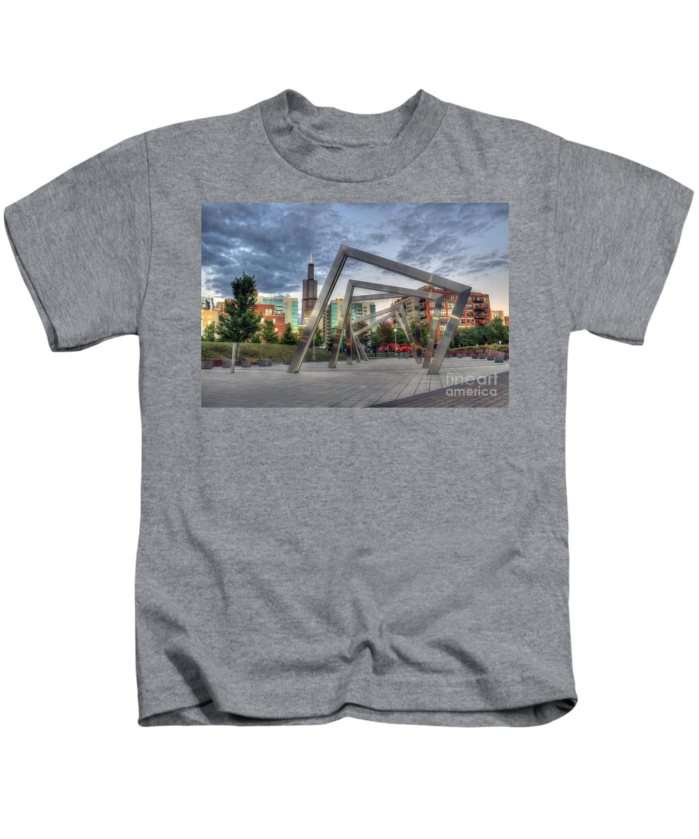 Canon Kids T-Shirt featuring the photograph Sunset In The Park by Steven K Sembach