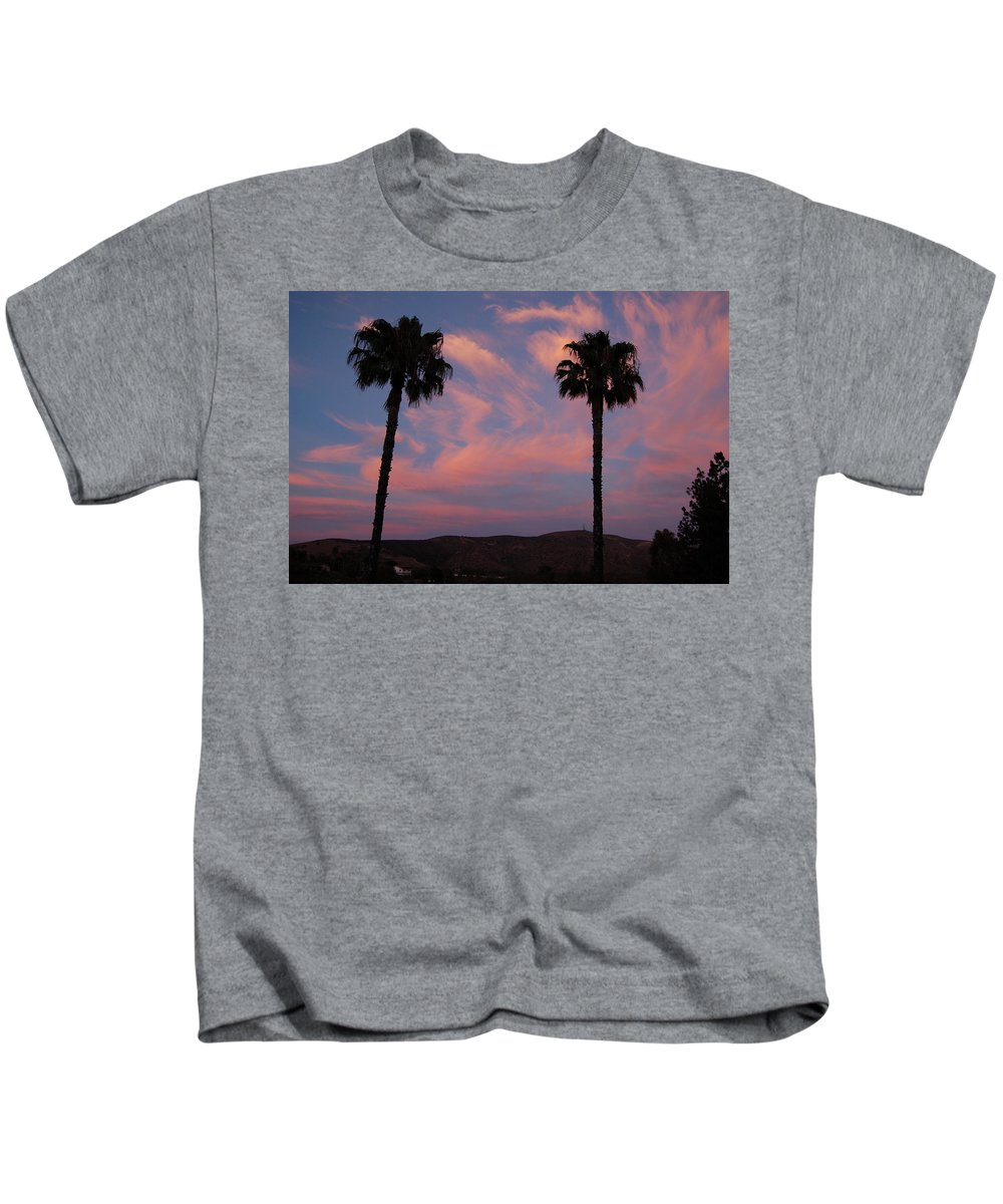 Linda Brody Kids T-Shirt featuring the photograph Sunset Landscape Xi by Linda Brody