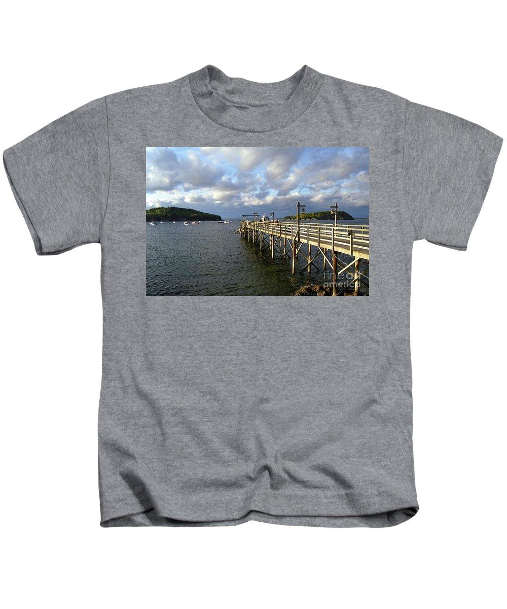 Bar Harbor Sunset Kids T-Shirt featuring the photograph Sunset Over Bar Harbor by Allen Beatty