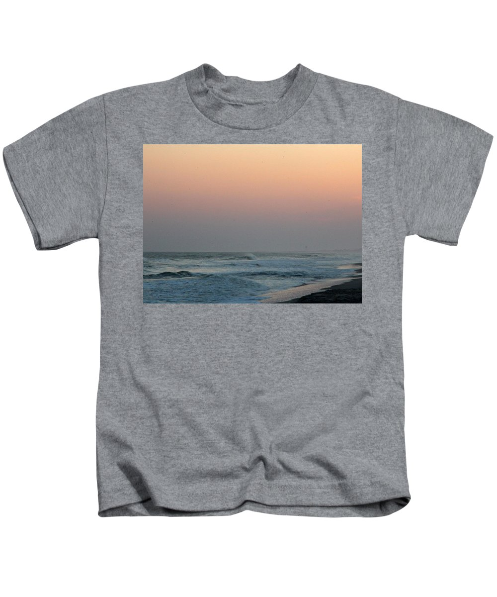 Kids T-Shirt featuring the photograph Surf At Sunset 1 by Rand Wall