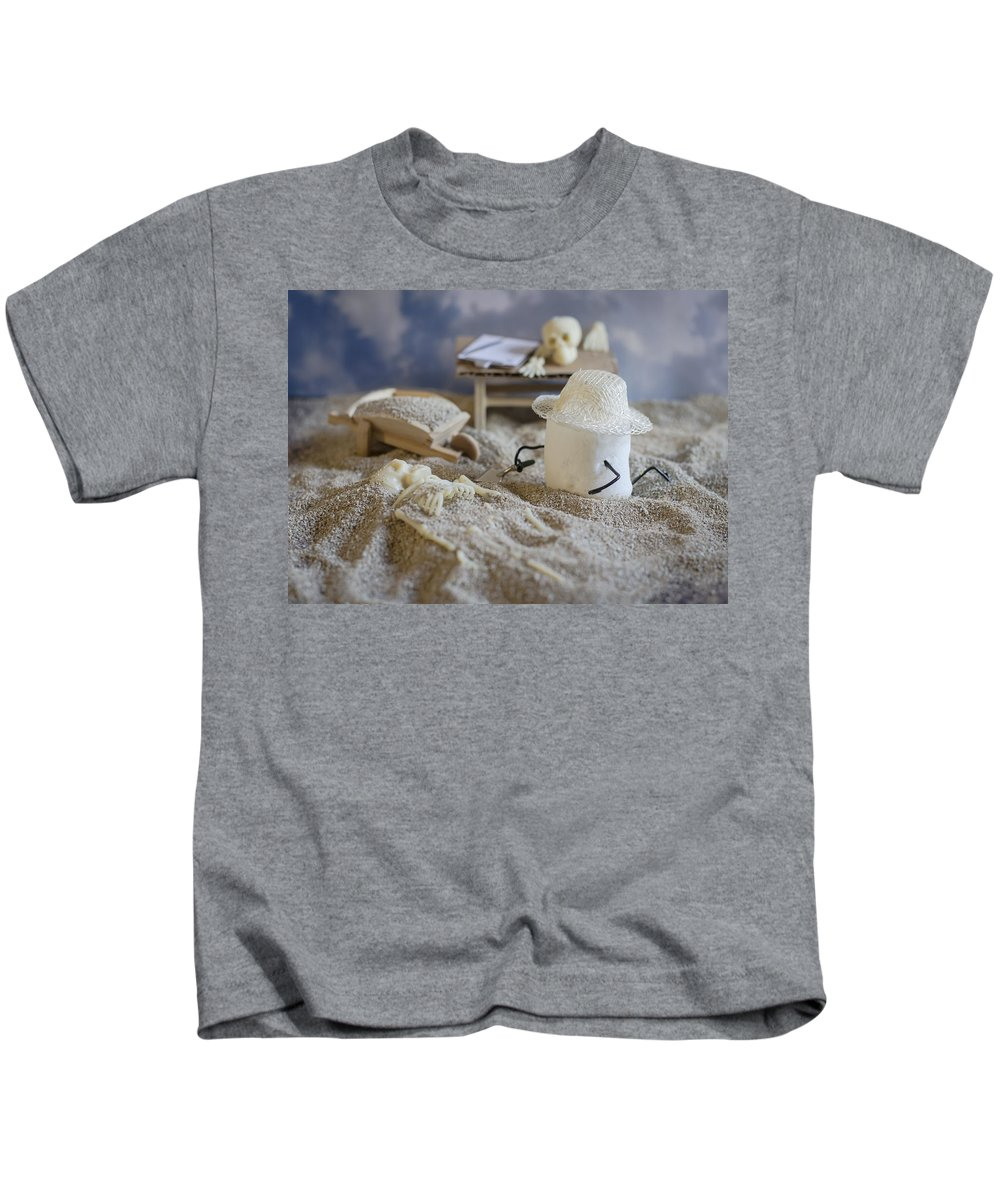 Paleoanthropologist Kids T-Shirt featuring the photograph Sweet Discovery by Heather Applegate