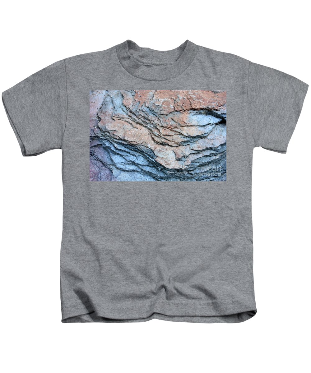 Nature Abstract Kids T-Shirt featuring the photograph Tahoe Rock Formation by Carol Groenen