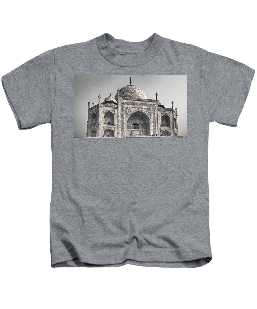 India Kids T-Shirt featuring the photograph Taj Dressed In White by Scott Wyatt